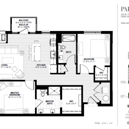 Two Bedroom - Maine A Floor Plan