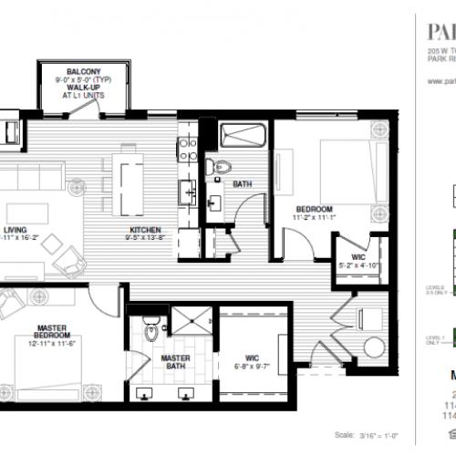 Two Bedroom - Maine A Floor Plan