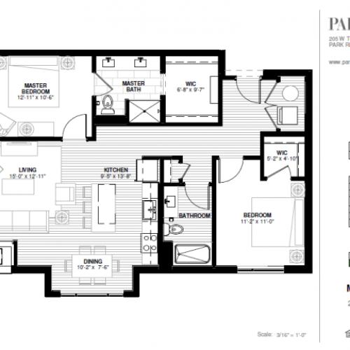Two Bedroom - Maine B Floor Plan