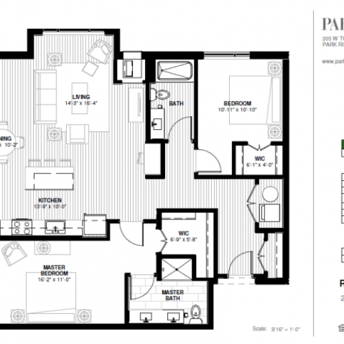 Two Bedroom - Rotary Floor Plan