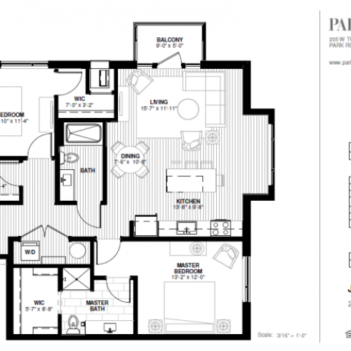 Two Bedroom - Jaycee Floor Plan
