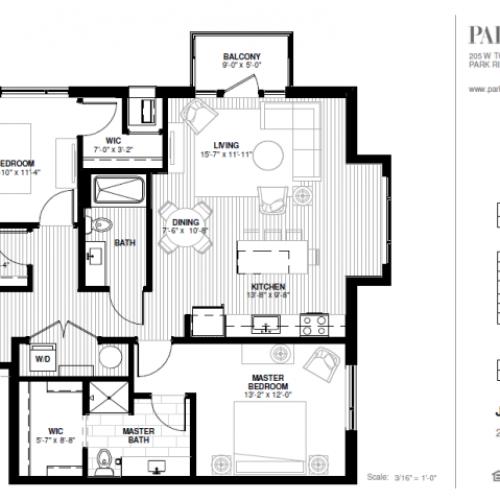 Two Bedroom - Jaycee Floor Plan