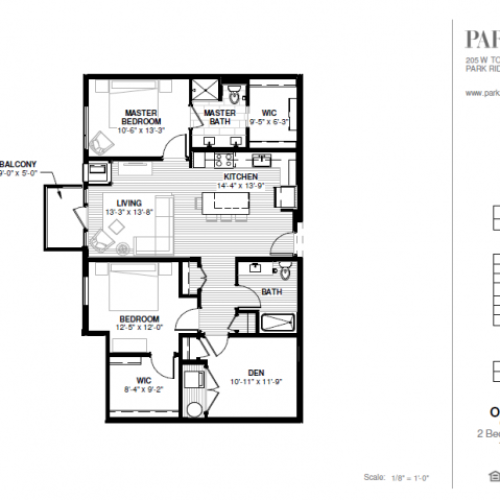 Two Bedroom - Oakton Floor Plan
