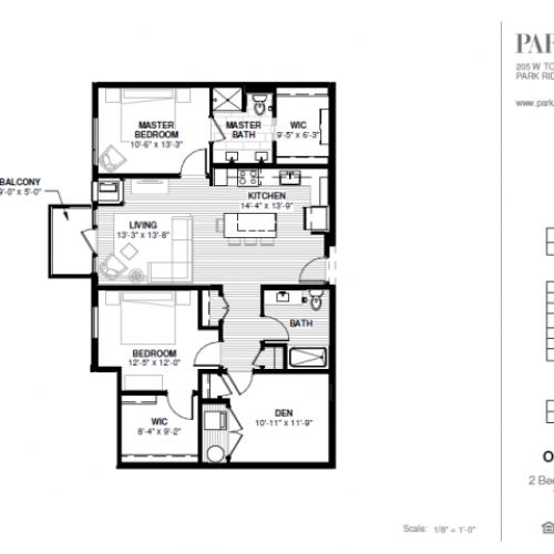 Two Bedroom - Oakton Floor Plan