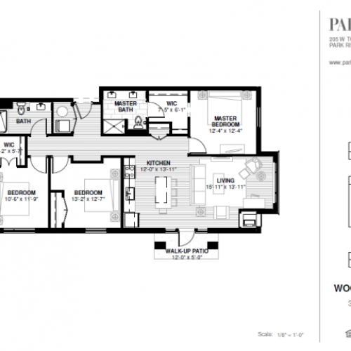Three Bedroom - Woodland A Floor Plan