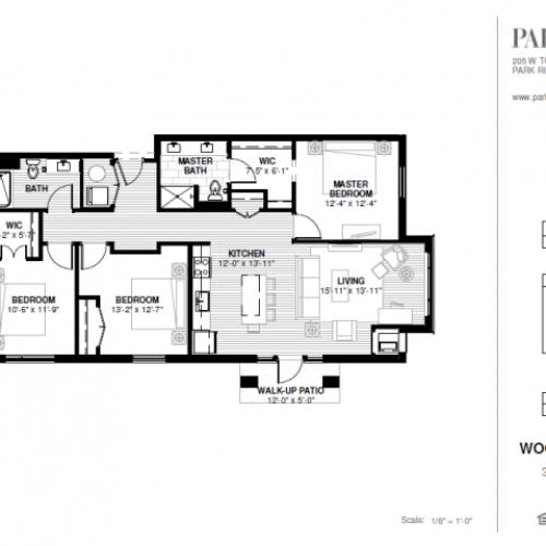 Three Bedroom - Woodland A Floor Plan