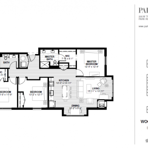 Three Bedroom - Woodland B Floor Plan