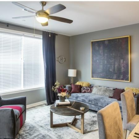 Living Room | apartments for rent castle shannon pa | The Ashby at South Hills Village Station