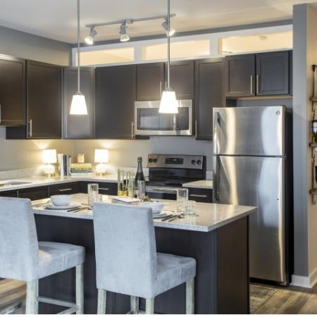 Kitchen | st clair pa apartments | The Ashby at South Hills Village Station
