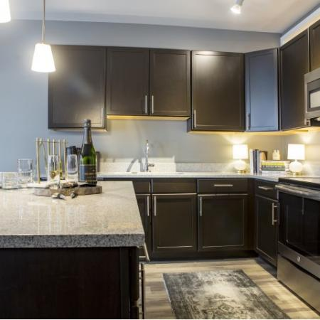 Kitchen | apartments for rent castle shannon pa | The Ashby at South Hills Village Station