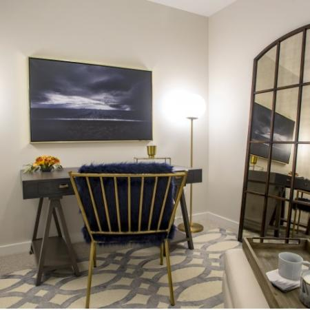Bedroom Desk | st clair pa apartments | The Ashby at South Hills Village Station