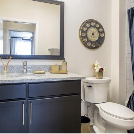 Bathroom | apartments for rent castle shannon pa | The Ashby at South Hills Village Station