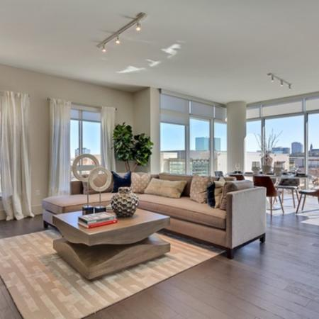Elegant Living Room | Luxury Apartments Uptown Dallas | Preston Hollow Village Residential