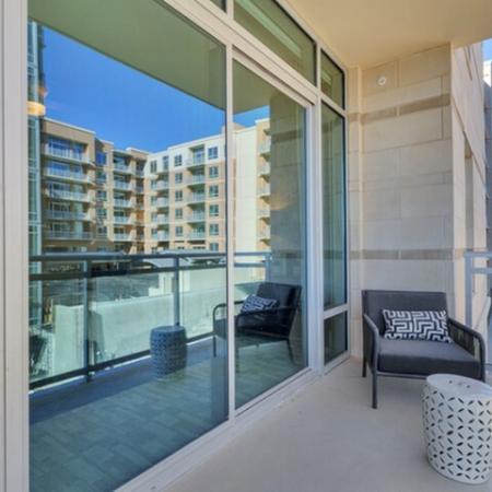 Spacious Apartment Balcony | Luxury Apartments Uptown Dallas | Preston Hollow Village Residential