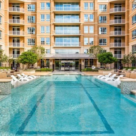 Sparkling Pool | Luxury Apartments Uptown Dallas | Preston Hollow Village Residential