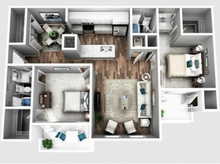 two bedroom apartment | Atlanta | 2100 DeFoors Crossing