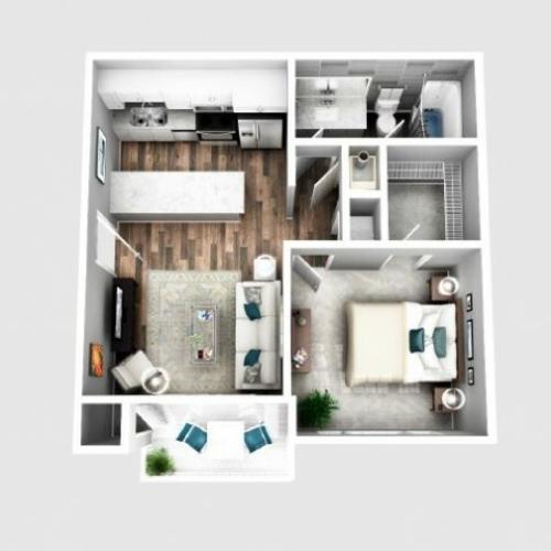 one bedroom apartment | Atlanta | 2100 DeFoors Crossing
