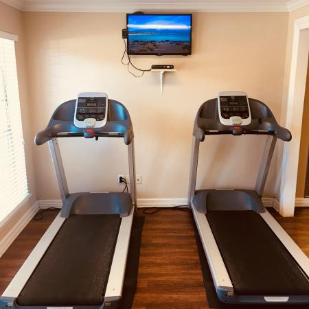 Treadmills are included in the fitness center  | Apartment Homes in Houston, TX | Memorial City