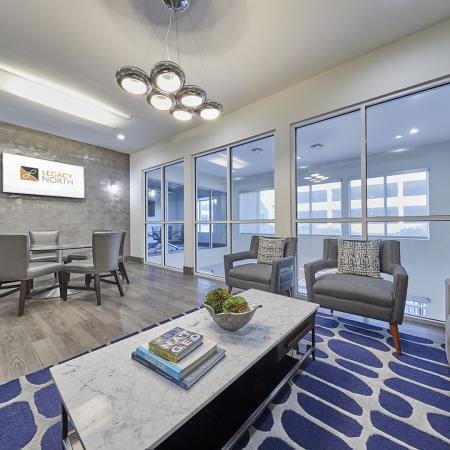 BEAUTIFUL RESIDENT LOUNGE WITH LUXURY FURNITURE.
