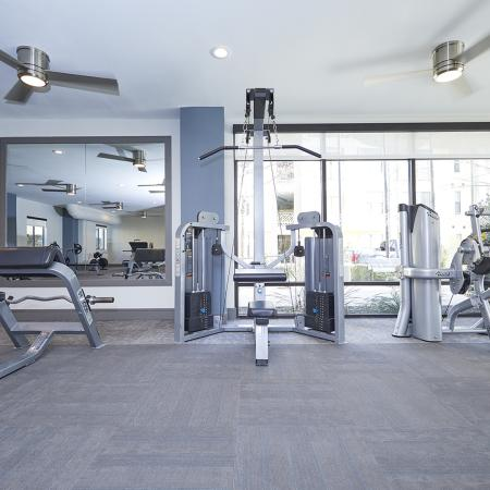 24/7 BI-LEVEL PREMIER FITNESS CENTER, WITH STRENGTH TRAINING AND CARDIO EQUIPMENT., luxury apartments in plano, frisco apartments, toyota plano apartments