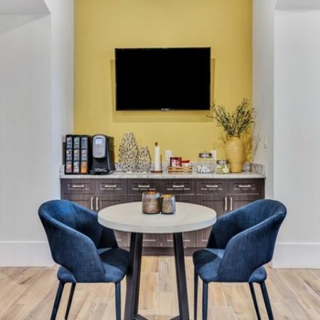 Resident Clubroom with Complimentary Coffee Bar