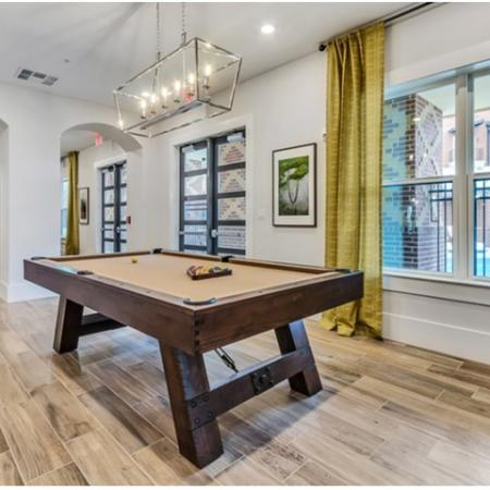 Resident Clubroom Featuring Pool Table