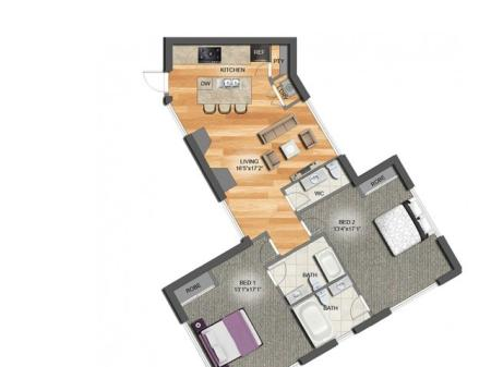 Two Bedroom Two 1/2 Bath