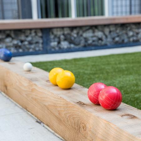 Bocce ball court outside