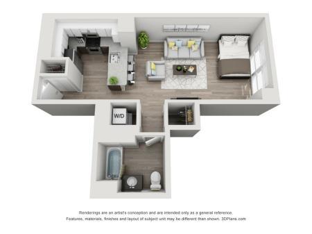 Studio Floor Plan Unit 2