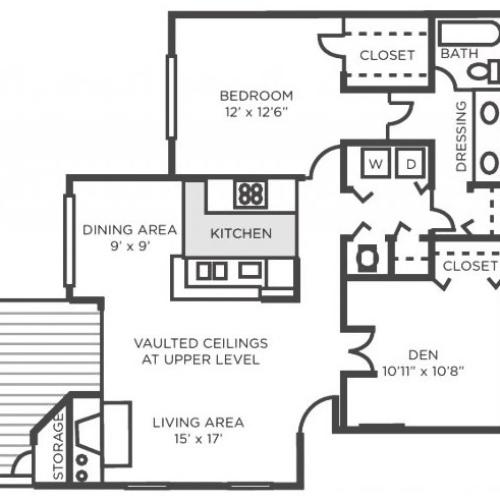 Poplar- One Bedroom One Bathroom with Den