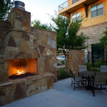 Community Fire Pit with seating | Apartments in Rockwall | Rockwall Commons
