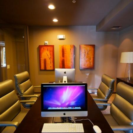 Resident Business Center with Macbook computers and a printer | Apartments in Rockwall | Rockwall Commons