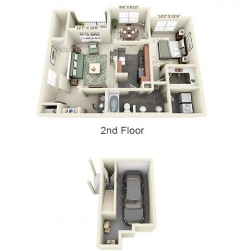 Floor Plan 4 | The Lodge at Lakecrest
