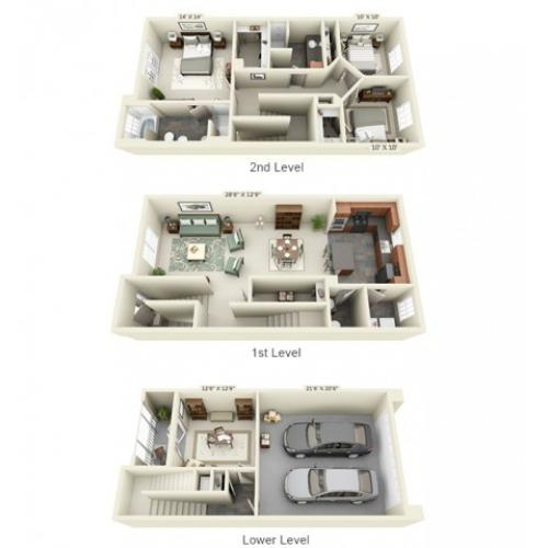 Floor Plan 10 | The Lodge at Lakecrest