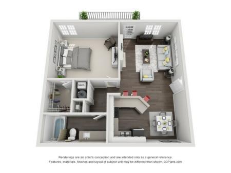 1 Bedroom Renovated Stackable W/D