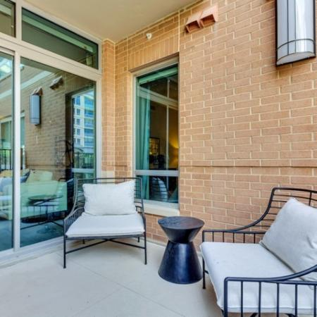 Spacious Porch Area | Dallas Uptown Apartments | Preston Hollow Village Residential