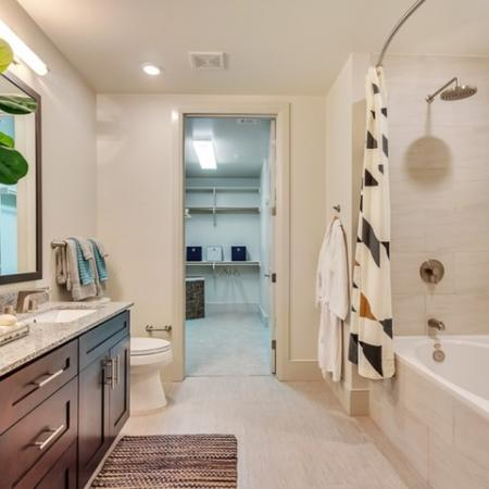 Spacious Master Bathroom | Luxury Dallas Apartments | Preston Hollow Village Residential