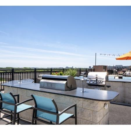 Rooftop grilling areas
