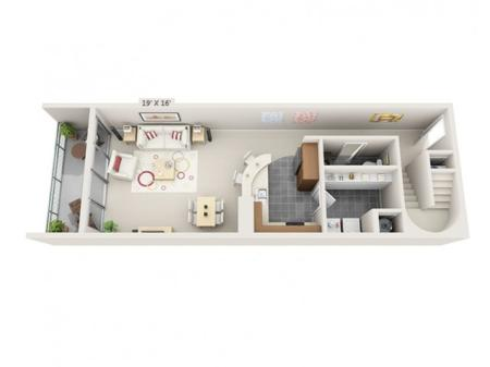 2 Bed 2.5 Bath Floor Plan B6