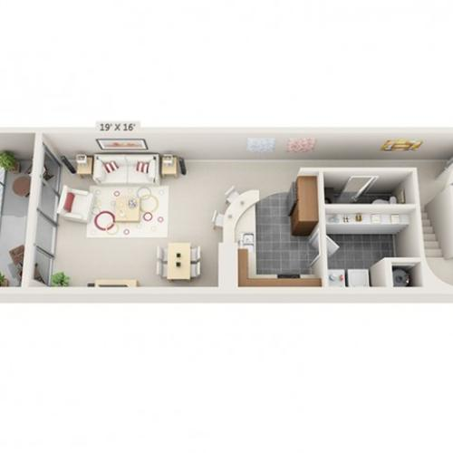 2 Bed 2.5 Bath Floor Plan B6