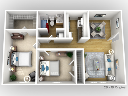 Two Bedroom - One Bath