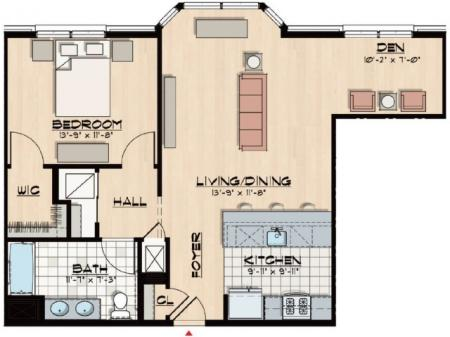 B1 - One Bedroom and Den, One Bath