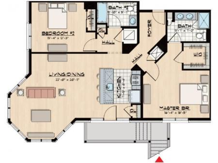 B12 - Two Bedroom, Two Bathroom
