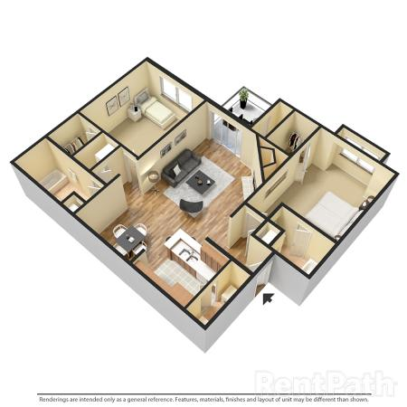 2x2 942 - TWO BEDROOM TWO BATH