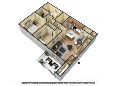 The Basin (950 sq.ft. Two Bedroom Two Bath)