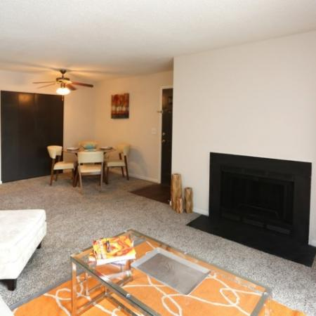 Spacious Living room with Fire Place and Dining room