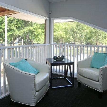 Club House Lounge area over looking the Swimming Pool