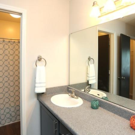 Master Bathroom with Double Vanities and separate Shower / Toilet for your comfort.