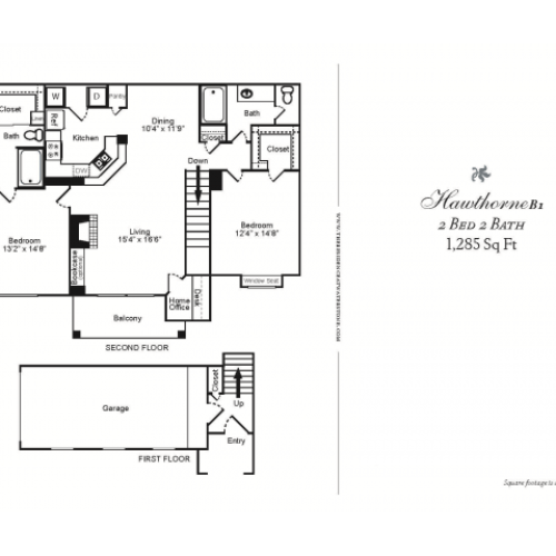B1-TWO BEDROOM TWO BATH