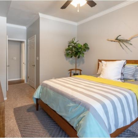 Large Guest Bedroom with Ceiling Fan